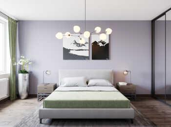 Спальня, вариант отделки «Нью-Йорк»